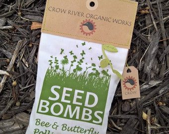 12 Seed Bombs - Native Wildflower Pollinator Mix