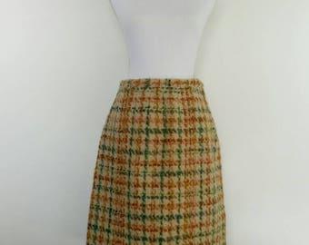 Vintage 60s tweed wool pencil Skirt by David Jones size Medium