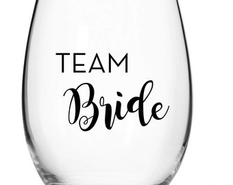 Team Bride decal for wine glass / DIY Decal  / Tumbler Decal