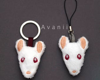White Rat or Mouse Soft Charm / Keychain