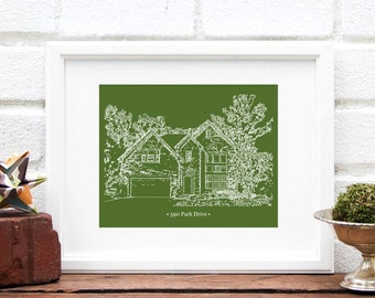 Father's Day Gift, Gift for Dad, Gift for Father, Hardworking Dad Gift, Meaningful Gift for Grandfather, Home Illustration -  Art Print