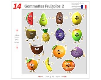 Mini stickers Fruigolos GOM016 - Gommettes Fruigolos GOM016