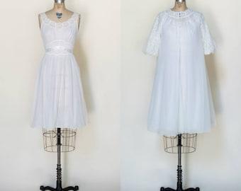1960s Peignoir Set --- Vintage Bridal Lingerie