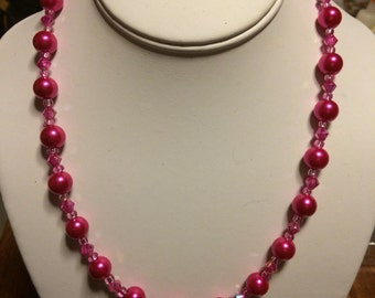 Long Pink Necklace.