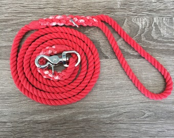 5' Small Dog leash - Solid Red