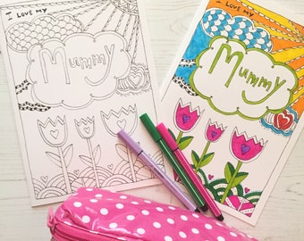 Card for mummy - mummy card - card for mum - mummy card -a5 greetings card for mum