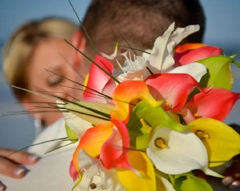 SALE Real Touch Calla Lily Destination Wedding Package Flowers