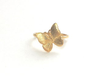 Butterfly Ring 18k gold yellow Stack Ring