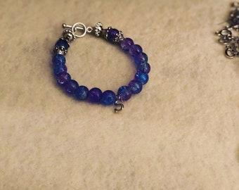 handmade initial bracelet for toddlers
