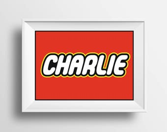 Lego Name Sign Framed Wall Art