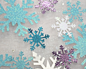 Frozen Party Decoration Confetti / Snowflake Confetti / Wonderland Confetti / Table Scatter / 100 pieces / Frozen / Punchies