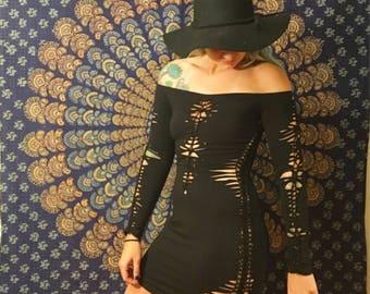 Nova off the shoulder slit dress