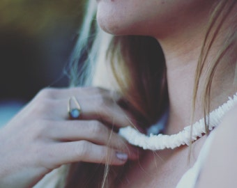 50% SALE-Pure white shell necklace, shell necklace,jewelry, boho jewelry, boho fashion, gypsy necklace, beach jewelery.