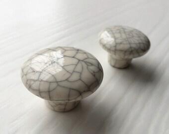 Ceramic Knobs Dresser Knob Drawer Pulls Handles Cabinet Knobs Kitchen Door  Furniture Hardware Imitation Crack Ceramic
