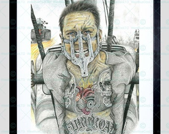 Mad Max Inked Icon Tattoo Tom Hardy Framed Art Print By W.Maguire F12X10607