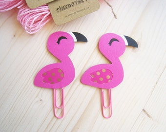 Flamingo Planner Clip, Flamingo Paper Clip, Planner Accessories, Stationery, Paperclips, Page Marker, Hot Pink Flamingo Planner Goodies