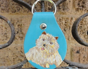 Key Fob with Cairn Terrier