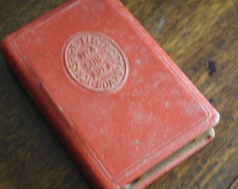 vintage red leather money box yorkshire electricity board savings