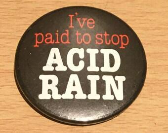 Stop Acid Rain Badge