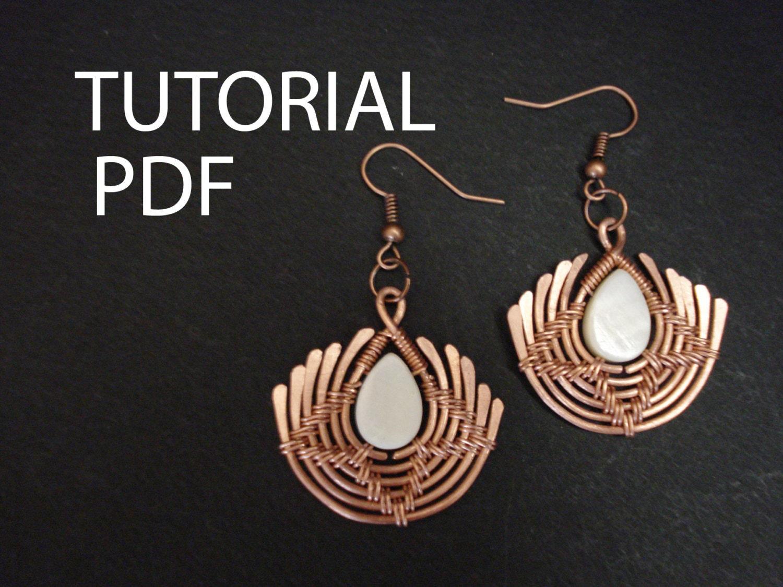 Earrings tutorial wire wrap tutorial copper wire tutorial zoom aloadofball Choice Image