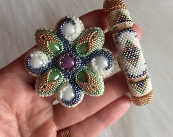 A Handmade Bracelet and Brooch from Yuliiya Terletska