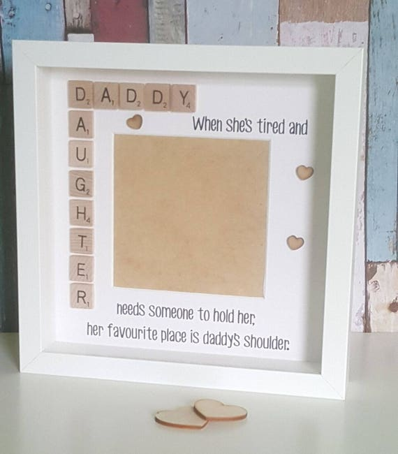 Father\'s Day Gift Daddy & Daughter Frame Personalised