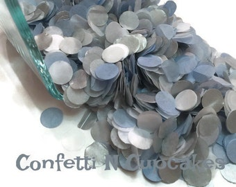 Baby Blue White Silver Tissue paper Confetti Baby Boy Shower Decor Beach Wedding Confetti Toss Birthday Confetti for Balloons