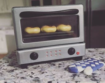 Plastic Dollhouse Small Oven Toaster Orcara Cooking Kitchen