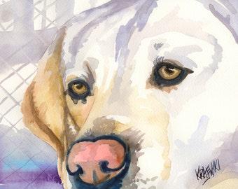 Labrador Retriever Fine Art Original Print Collagraph Dog