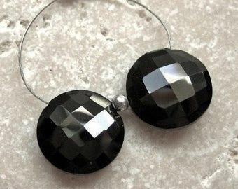 Spinell facettierte Münze Perlen 11,5 mm - abgestimmt Edelstein-paar