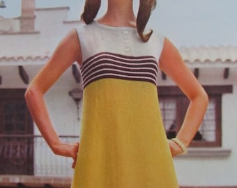 1960's Knitting Patterns, Vintage PDF Pattern Women's Knit Dress Pattern 1117