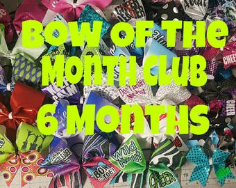 Cheer Hair Bow of the month 6 months