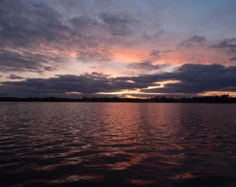 Lake Sunset Photo Print