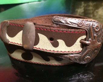 Vintage womans leather belt made in Holland
