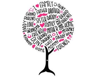 Family tree svg, family svg, family svg sayings, our nest svg, family sign svg, home svg, tree svg, lettering svg, svg files, svg, cricut