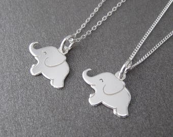 925 sterling silver elephant necklace