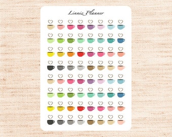 Mini Coffee Cup (matte planner stickers, perfect for planners)