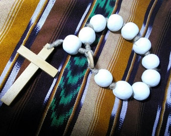 Extra large Clay Decade Rosary with 30mm Hand rolled Clay beads and hemp (D1)
