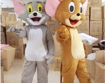 1 pc tom/jerry cat mouse Mascot Costume Cosplay custom made Xmas Fancy Dress Halloween Outfit New all size & Mouse mascot | Etsy