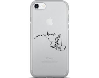 Maryland Home State - iPhone Case (iPhone 7/7 Plus, iPhone 8/8 Plus, iPhone X)
