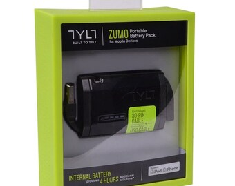 TYLT Zumo Portable Battery Pack for Apple iPhone 3GS, 4, 4S; iPod touch 1st to 4,Apple iPod nano 1st, 2nd, 3rd, 4th, 5th, 6th generation