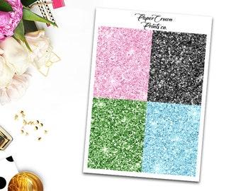 HOLIDAY Glitter Headers/Planner Stickers for Erin Condren Planner/Happy Planner/Personal Planner/Travelers Notebook/Functional Headers
