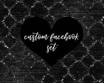 Custom Facebook Set Design, OOAK Facebook Banner, Custom Group Facebook Set