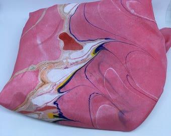 Pink Sand Swirl Silk Scarf