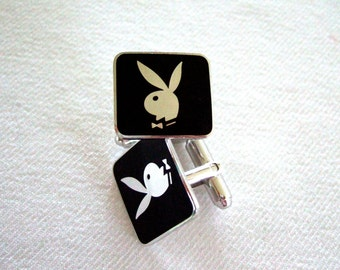 Signed Playboy Bunny Cufflinks Collectible Memorabilia Hugh Hefner Gift For Dad Hot Gift Father's Day Gift Anniversary Gift for Husband