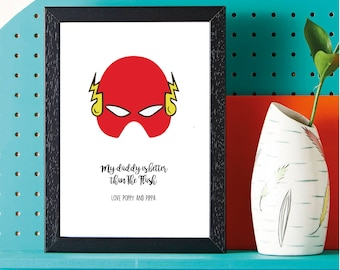 Fathers Day - Super Hero - The Flash - Gift