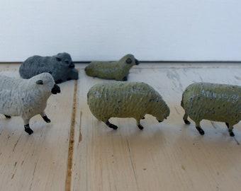 Vintage old lead sheep toys Britains England