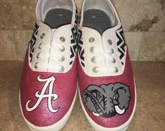 Alabama Crimson Tide women's laced shoes