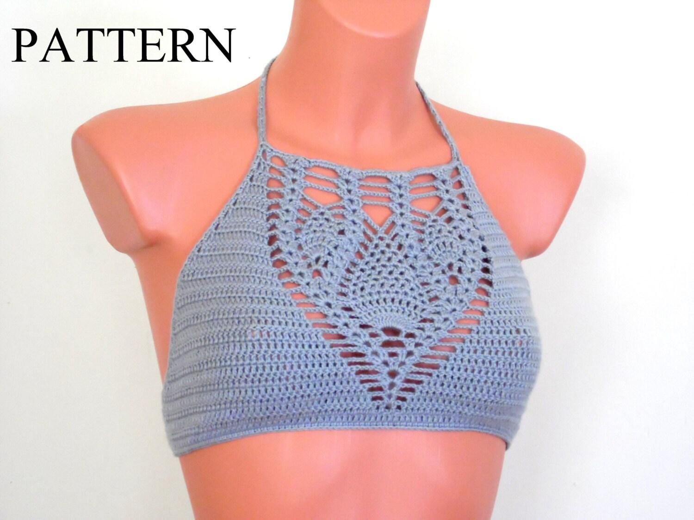 Crochet bikini pattern crop top pattern halter top pattern crochet bikini pattern crop top pattern halter top pattern bustier pattern dt1010fo
