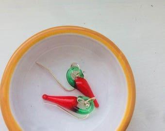 Red Chili Pepper handmade earring